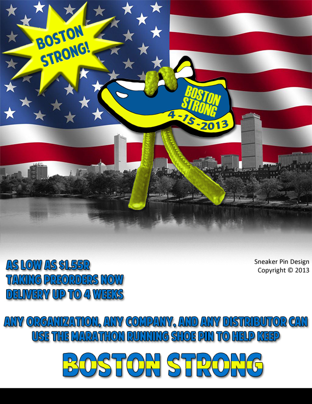 Boston Strong Marathon Pin