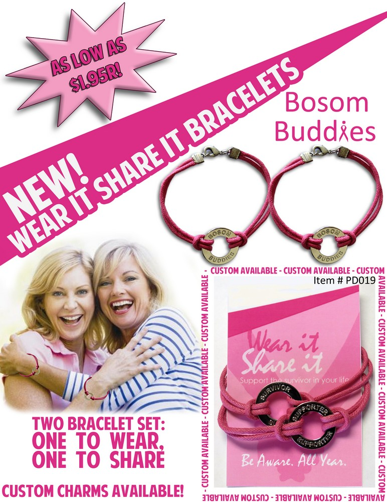 Wear It Share It Bracelets - Bosom Buddies